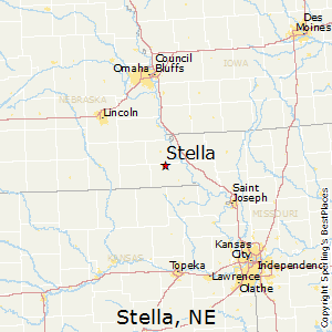 Stella,Nebraska Map