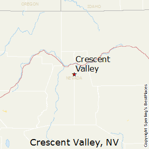 Crescent_Valley,Nevada Map