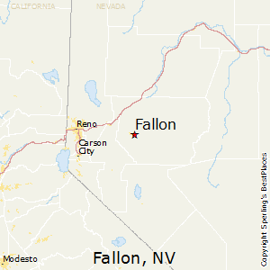 Fallon,Nevada Map