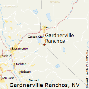 Gardnerville_Ranchos,Nevada Map