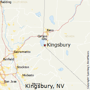 Kingsbury,Nevada Map