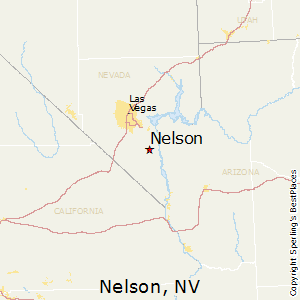 Nelson,Nevada Map