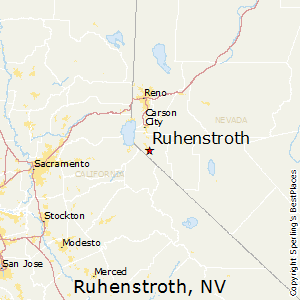 Ruhenstroth,Nevada Map