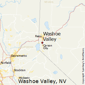 Washoe_Valley,Nevada Map