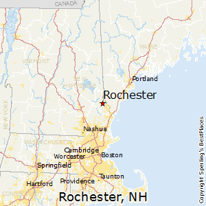 Rochester,New Hampshire Map