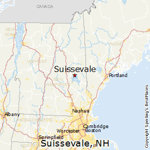 Suissevale,New Hampshire Map