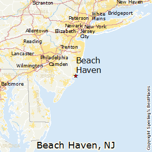 Beach Haven New Jersey Map