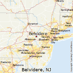 Belvidere,New Jersey Map