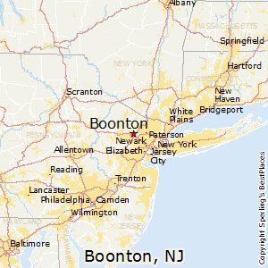 Boonton,New Jersey Map