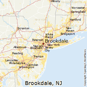 Brookdale,New Jersey Map