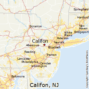 Califon,New Jersey Map