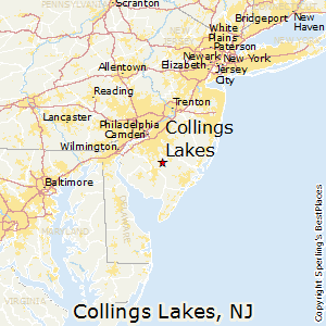 Collings_Lakes,New Jersey Map