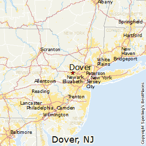 Dover,New Jersey Map