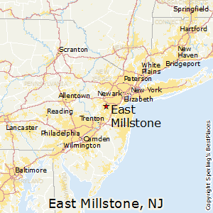 East_Millstone,New Jersey Map