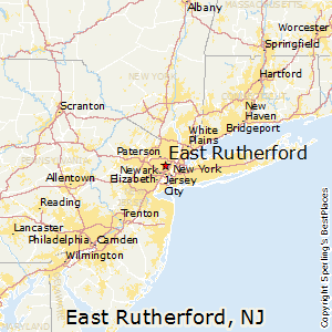 East_Rutherford,New Jersey Map