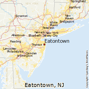 Eatontown,New Jersey Map