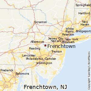 Frenchtown,New Jersey Map