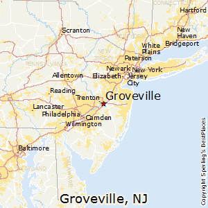 Groveville,New Jersey Map