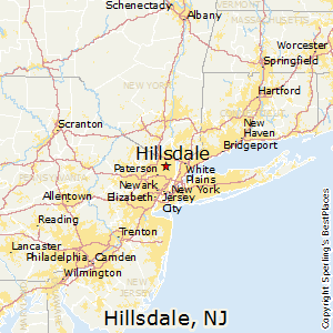 Hillsdale,New Jersey Map