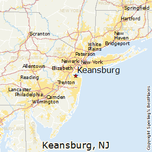 Keansburg,New Jersey Map