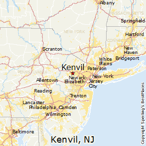 Kenvil,New Jersey Map