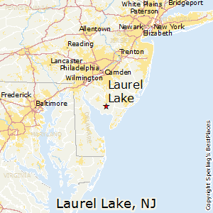 Laurel_Lake,New Jersey Map