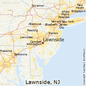 Lawnside,New Jersey Map