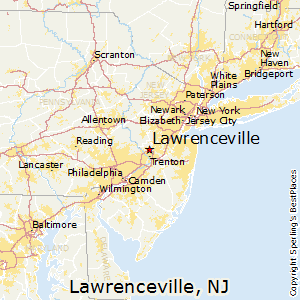 Lawrenceville,New Jersey Map
