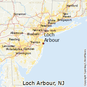 Loch_Arbour,New Jersey Map