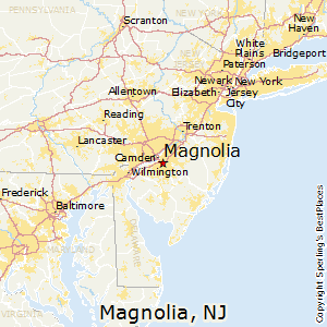 Magnolia,New Jersey Map