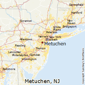 Metuchen,New Jersey Map