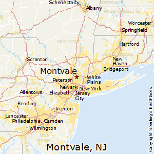 Montvale,New Jersey Map