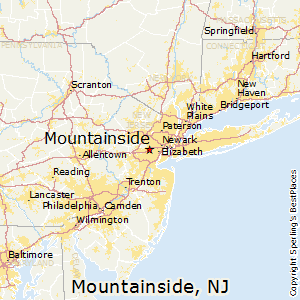 Mountainside,New Jersey Map