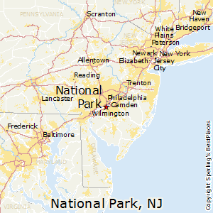 National_Park,New Jersey Map