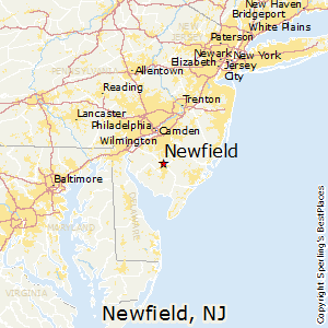 Newfield,New Jersey Map