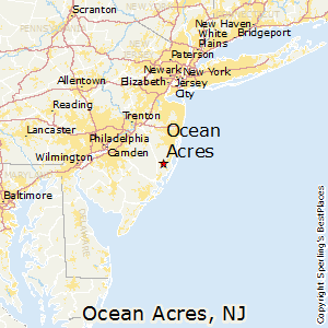 Ocean_Acres,New Jersey Map