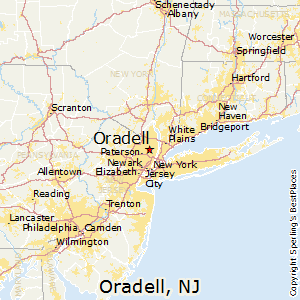 Oradell,New Jersey Map