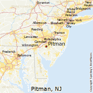 Pitman,New Jersey Map