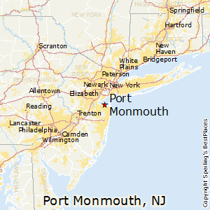 Port_Monmouth,New Jersey Map