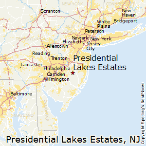 Presidential_Lakes_Estates,New Jersey Map