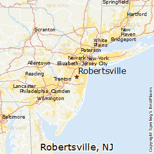 Robertsville,New Jersey Map