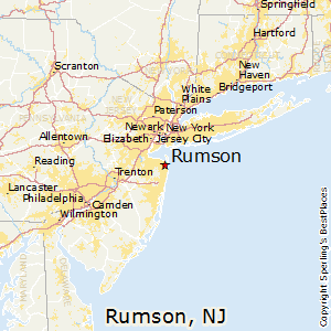 Rumson,New Jersey Map