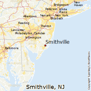 Smithville,New Jersey Map