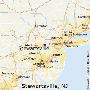 Stewartsville,New Jersey Map