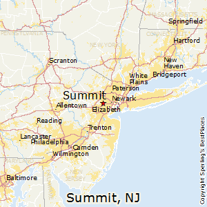Summit,New Jersey Map