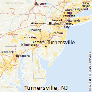 Turnersville,New Jersey Map