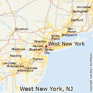 West_New_York,New Jersey Map