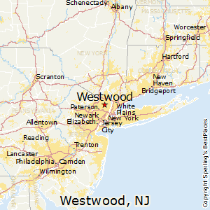 Westwood,New Jersey Map