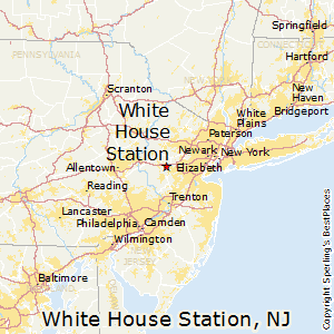 White_House_Station,New Jersey Map