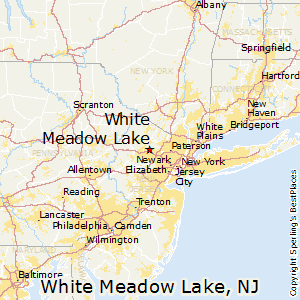White_Meadow_Lake,New Jersey Map